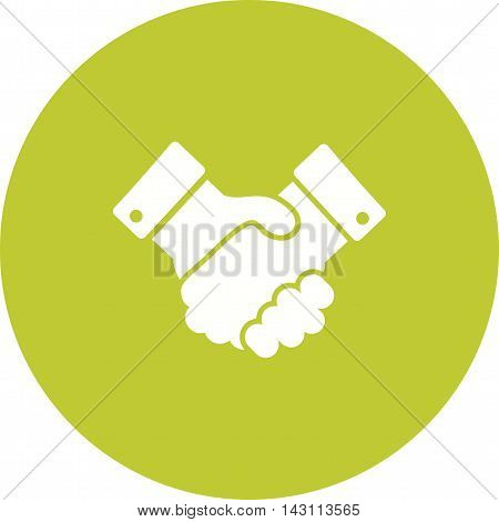 Handshake, election, people icon vector image. Can also be used for elections. Suitable for use on web apps, mobile apps and print media.