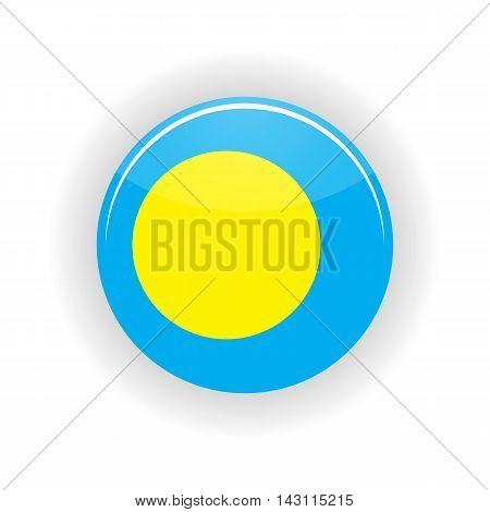 Palau icon circle isolated on white background. Melekeok icon vector illustration