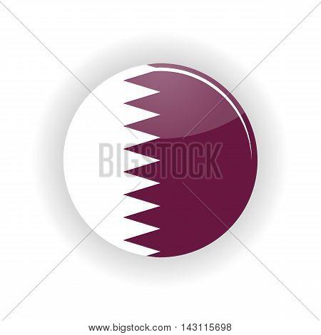 Qatar icon circle isolated on white background. Doha icon vector illustration