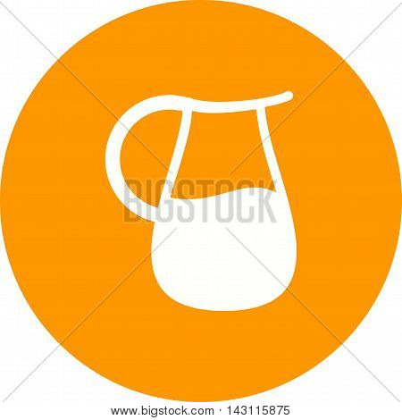 Water, jug, glass icon vector image. Can also be used for spa. Suitable for use on web apps, mobile apps and print media.