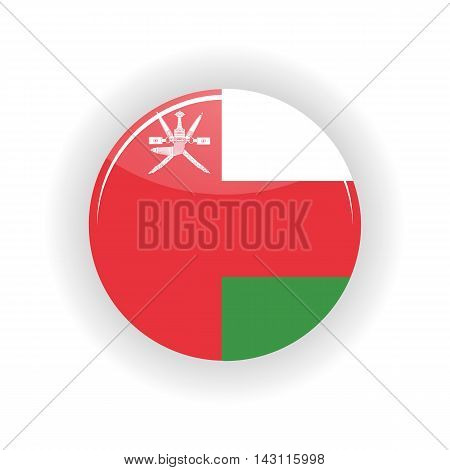 Oman icon circle isolated on white background. Muscat icon vector illustration