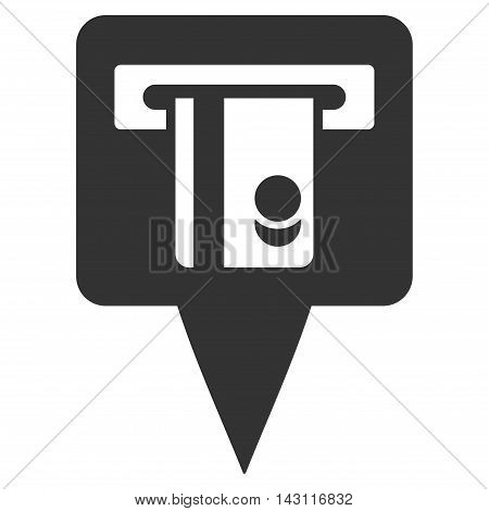 ATM Terminal Marker icon. Vector style is flat iconic symbol with rounded angles, gray color, white background.