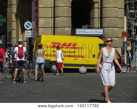 Yellow Dhl Van