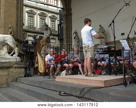 Orchestra Playing Live In Florence