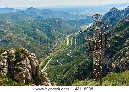 Spectacular Montserrat mountains. Catalonia, near Barcelona. Spain
