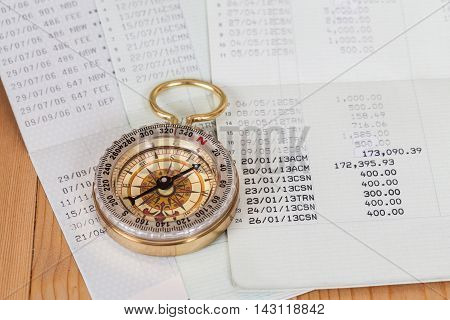 Saving account from bank with old compass