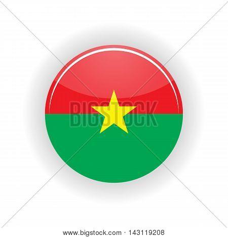 Burkina Faso icon circle isolated on white background. Ouagadougou icon vector illustration