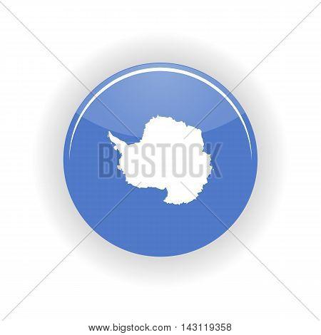 Antarctica icon circle isolated on white background. Antarctica icon vector illustration