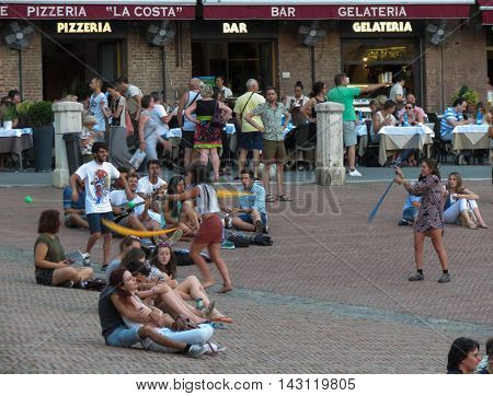 Piazza Del Campo In Siena