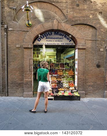 Fruits And Vegetables In Siena