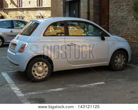 Off White Fiat New 500 Car