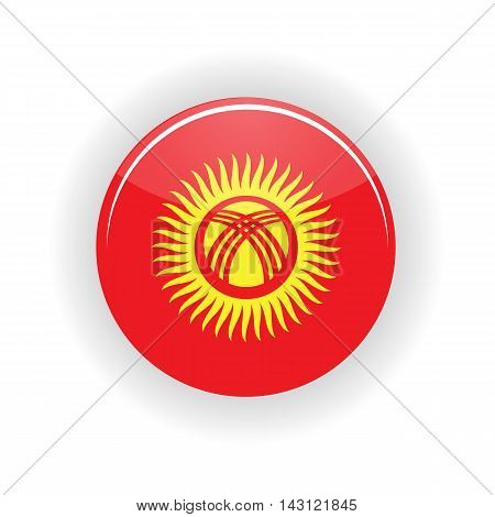 Kyrgyzstan icon circle isolated on white background. Bishkek icon vector illustration