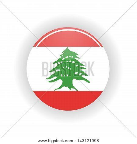Lebanon icon circle isolated on white background. Beirut icon vector illustration