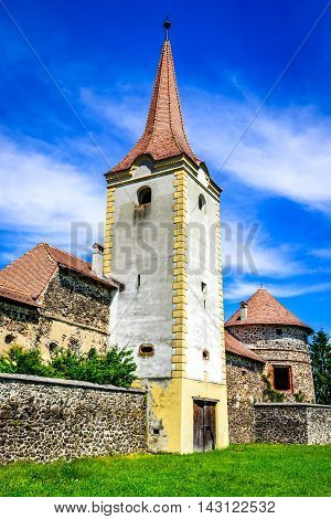 Transylvania Romania. Bethlen Castle built in 17th century in Racos Brasov county by local hungarian nobles.