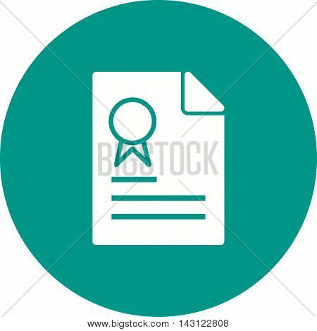 Certificate, diploma, degree icon vector image. Can also be used for employment. Suitable for use on web apps, mobile apps and print media.