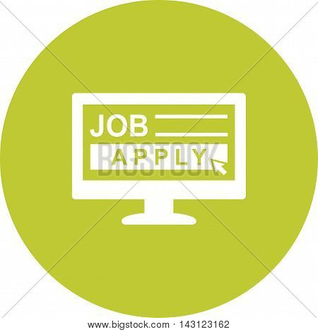 Job, apply, online icon vector image. Can also be used for employment. Suitable for use on web apps, mobile apps and print media.