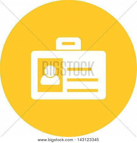 Identity, card, authorization icon vector image. Can also be used for employment. Suitable for web apps, mobile apps and print media.