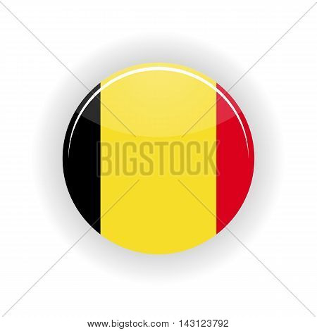 Belgium icon circle isolated on white background. Brussels icon vector illustration