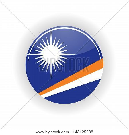Marshall Islands icon circle isolated on white background. Majuro icon vector illustration