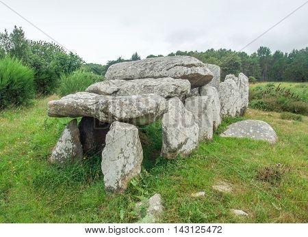 a dolmen near Carnac in Brittany France
