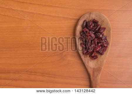 Close-up on a dried cranberries. Dried Cranberry