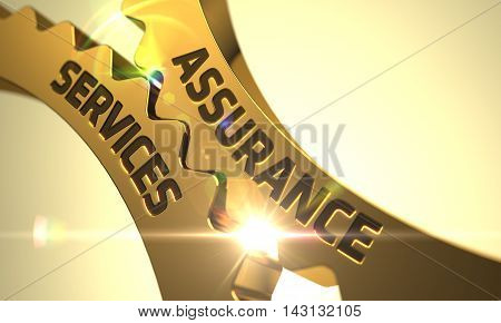 Assurance Services - Illustration with Glow Effect and Lens Flare. 3D Render.