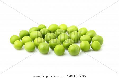 Green peas isolated on a white background.