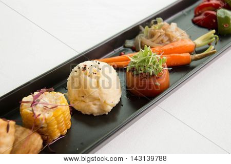 A typical dinner starters in side dishes