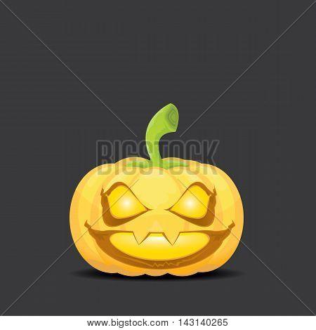 Smiling Halloween Pumpkin background. Scary Jack. Vector halloween party illustration