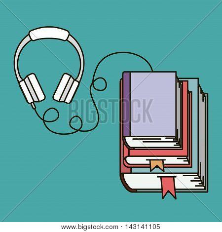 audio book isolated icon vector illustration design