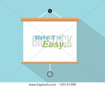make it easy quotes with checklist sign written on the presentation board
