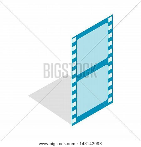 Film strip icon in isometric 3d style on a white background