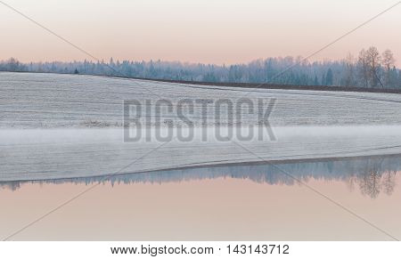 Rural Winter Landscape