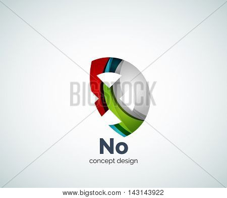 Vector cross logo template, abstract business icon