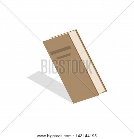 Closed book icon in isometric 3d style on a white background