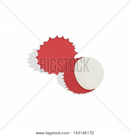 Rambutan icon in isometric 3d style on a white background