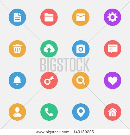 Web flat icons and Miscellaneous flat icons set