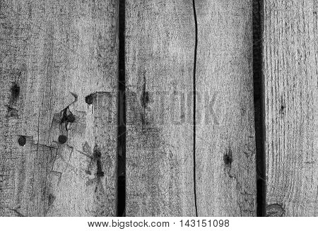 Aged wood plank texture with signs of aging