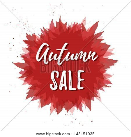 Hand Drawn Vector Illustration. Background With Fall Leaves. Forest Design Elements. Autumn Sale!
