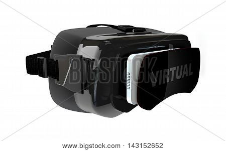 3D Illustration Of The Virtual Glass
