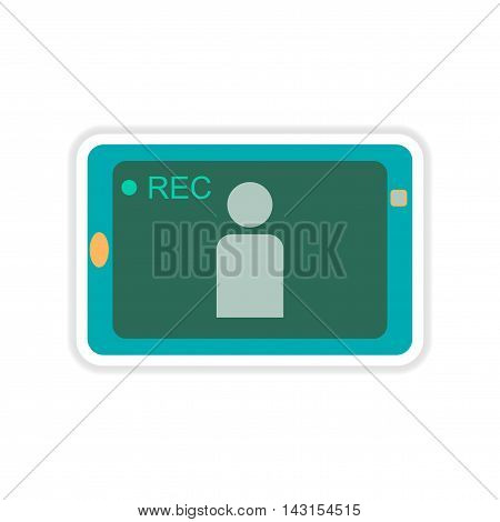 paper sticker on white  background mobile phone video