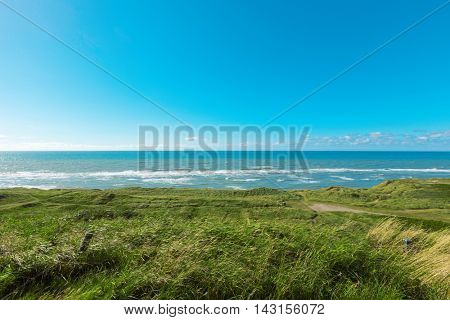 natural landscape with the northern coast and the sea