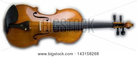 musical instrument violin parts on a white background