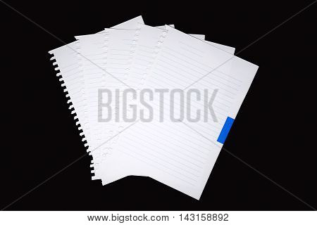 paper note on black background for input text
