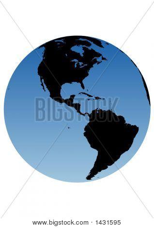 Earth Globe - Americas