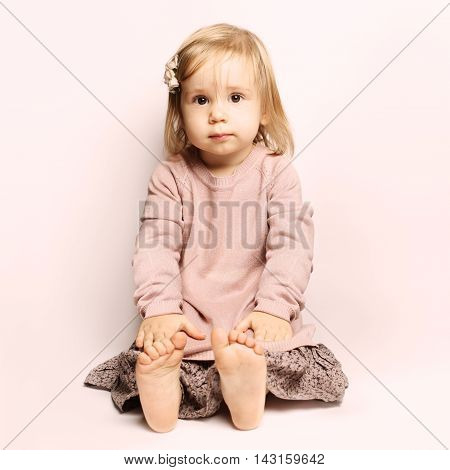 Little baby girl beautiful child (1-2 years)