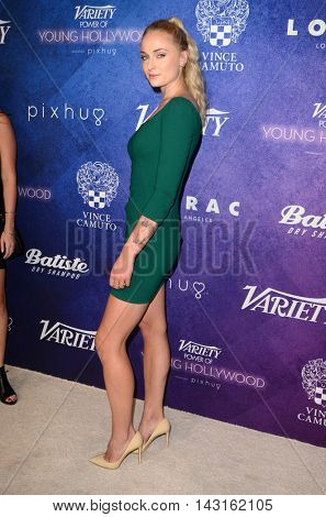 LOS ANGELES - AUG 16:  Sophie Turner at the Variety Power of Young Hollywood Event at the Neuehouse on August 16, 2016 in Los Angeles, CA