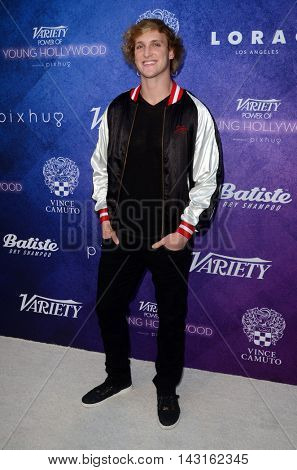 LOS ANGELES - AUG 16:  Logan Paul at the Variety Power of Young Hollywood Event at the Neuehouse on August 16, 2016 in Los Angeles, CA