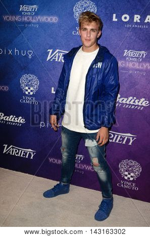LOS ANGELES - AUG 16:  Jake Paul at the Variety Power of Young Hollywood Event at the Neuehouse on August 16, 2016 in Los Angeles, CA