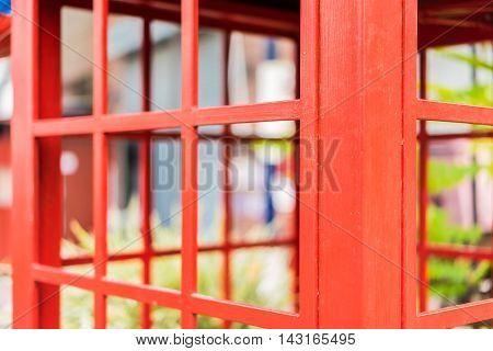 image of red telephone box in thailand